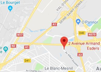 Access map to Annexx Le Blanc-Mesnil