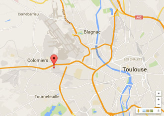 Access map to Annexx Colomiers