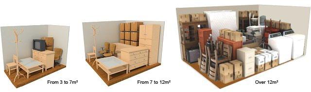 Choose your storage unit size